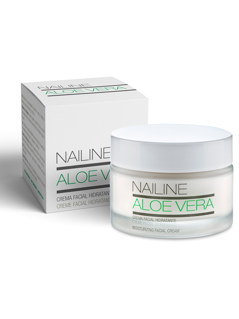 Nailine Crema Facial Hidratante con Aloe Vera