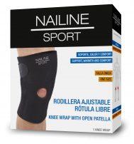 Nailine Sport Rodillera Ajustable Rótula Libre