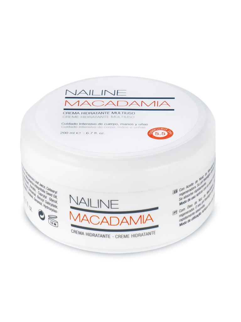 Nailine Crema Hidratante Multiuso con Aceite de Nuez de Macadamia 200ml
