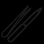 Shaped Nail files & Tweezers